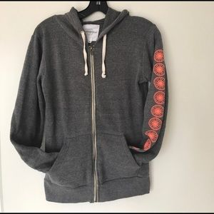 Grey and orange soul cycle hoodie